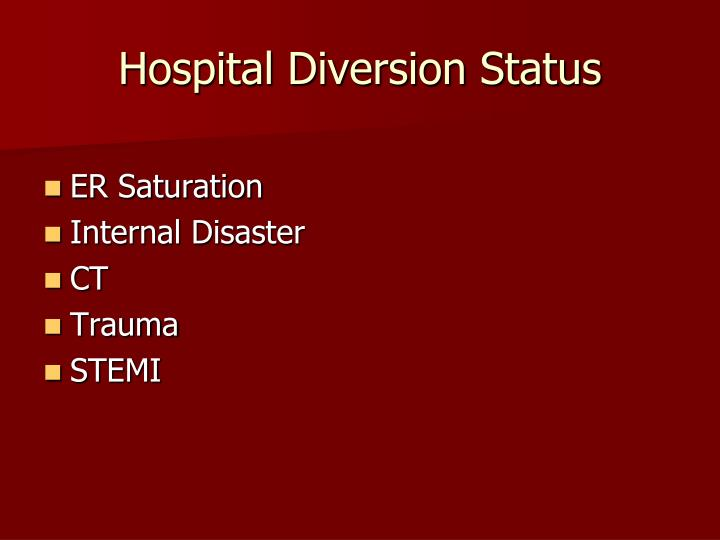 Hospital Diversion Status