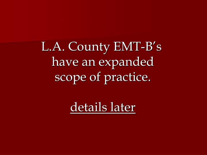 L.A. County EMT-B's