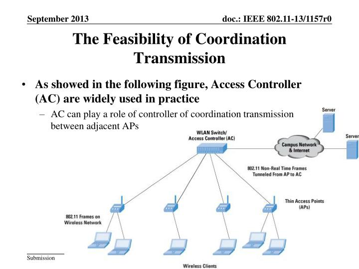 The Feasibility of Coordination Transmission