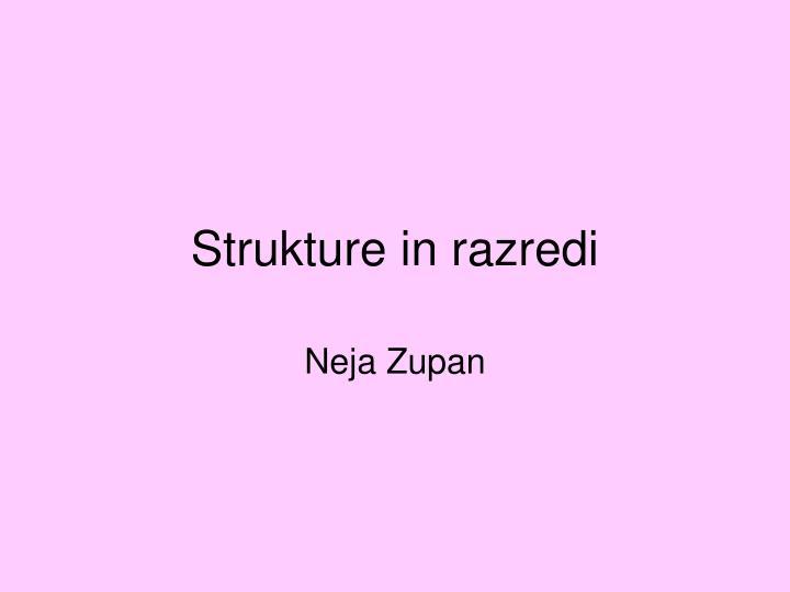 Strukture in razredi