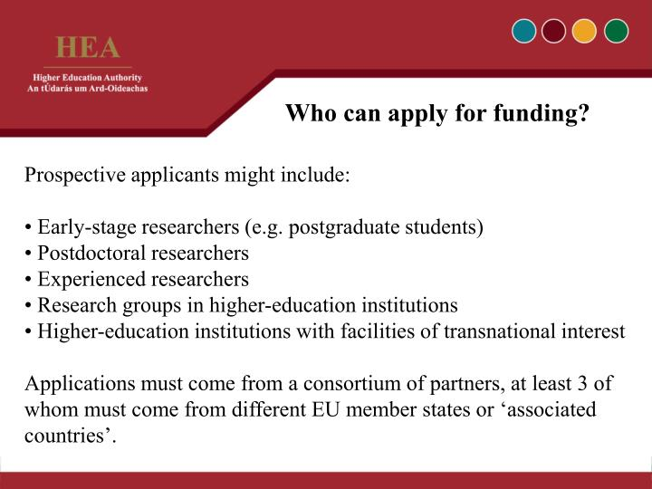 Who can apply for funding?