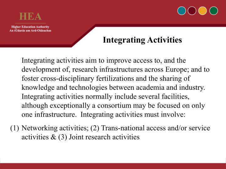Integrating Activities