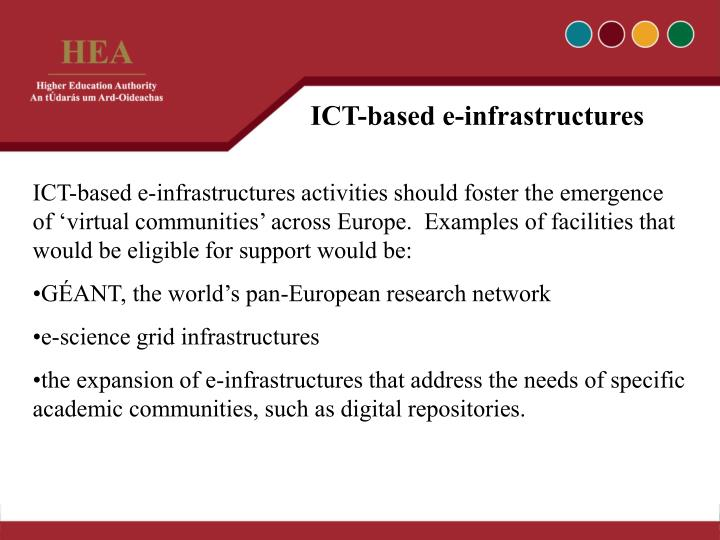 ICT-based e-infrastructures