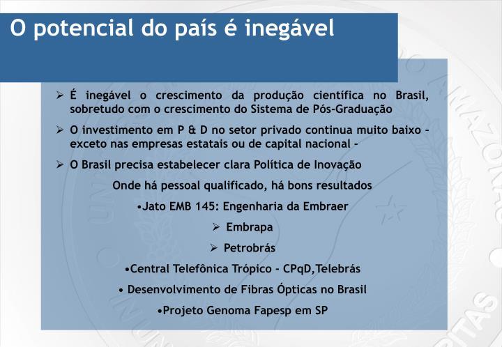 O potencial do país é inegável