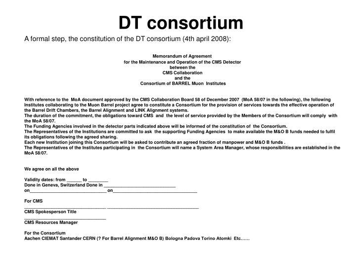 DT consortium