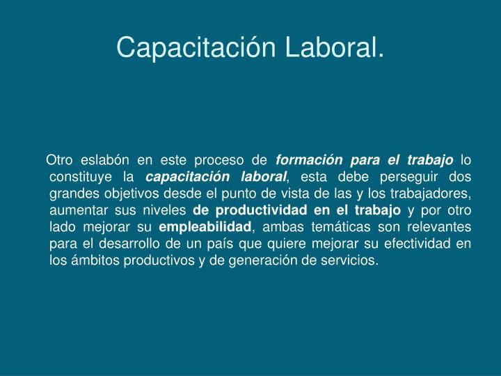 Capacitación Laboral.