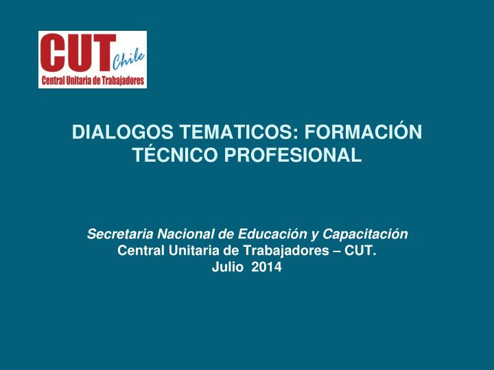 Dialogos tematicos formaci n t cnico profesional