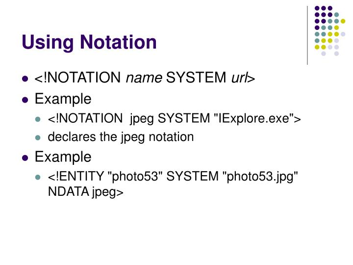 Using Notation