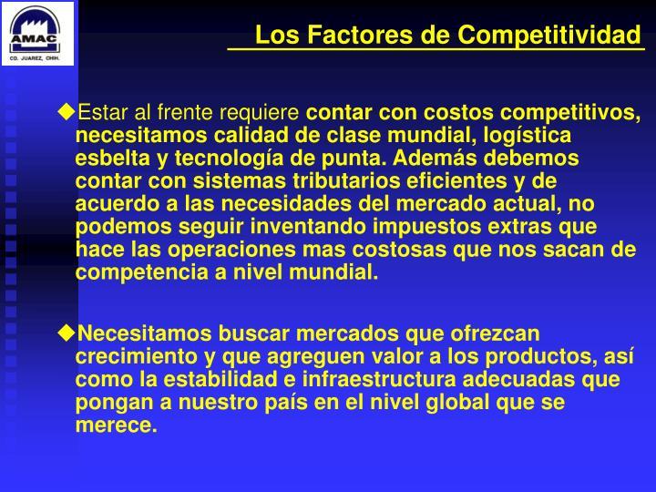 Los Factores de Competitividad