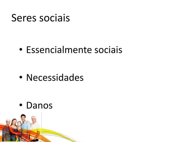 Seres sociais