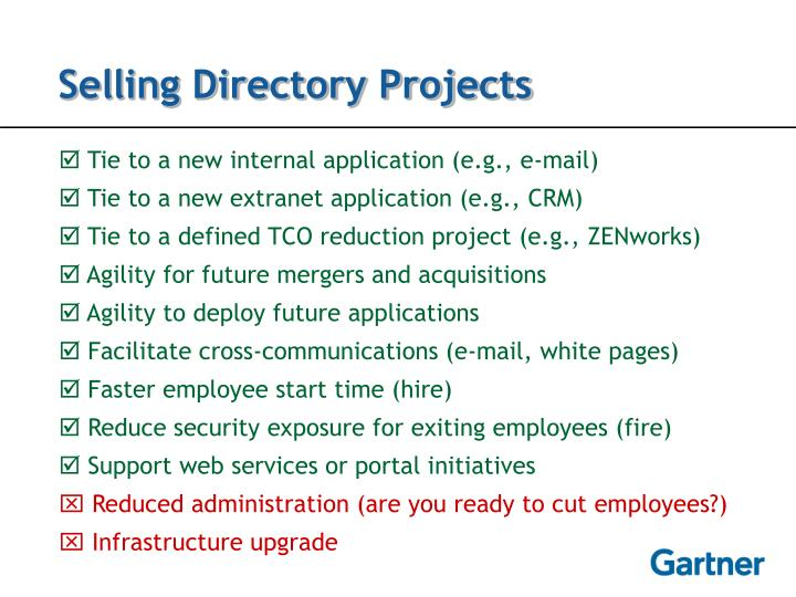Selling Directory Projects