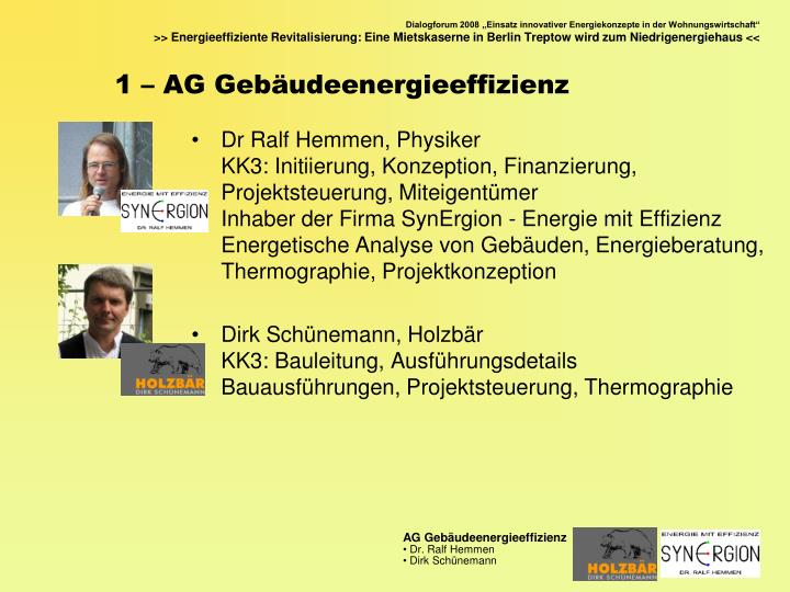 1 – AG Gebäudeenergieeffizienz