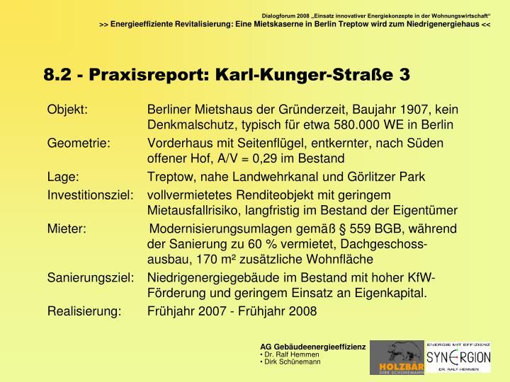 8.2 - Praxisreport: Karl-Kunger-Straße 3