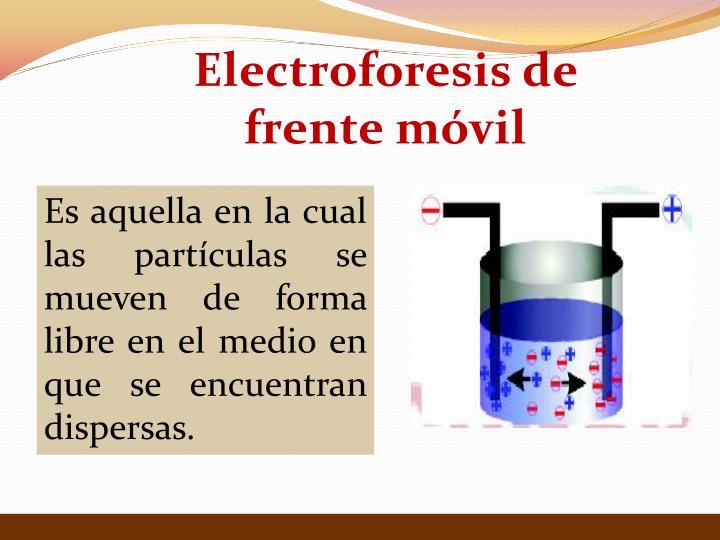 Electroforesis de frente móvil