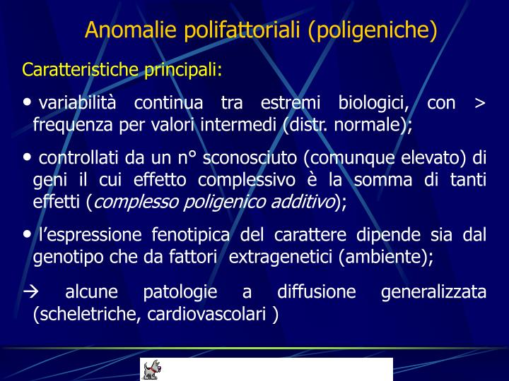 Anomalie polifattoriali (poligeniche)