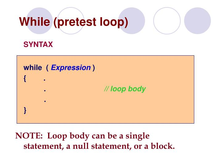 While (pretest loop)