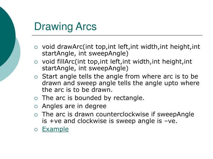 Drawing Arcs