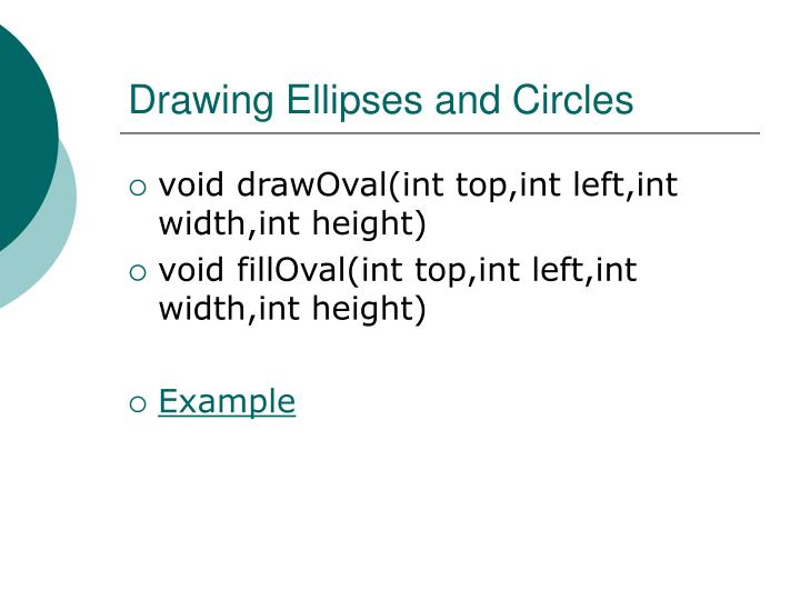 Drawing Ellipses and Circles
