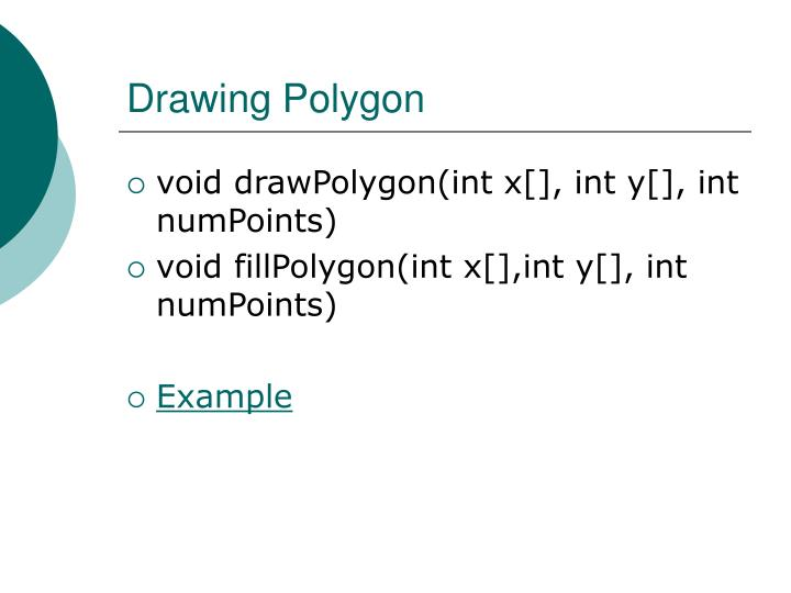 Drawing Polygon