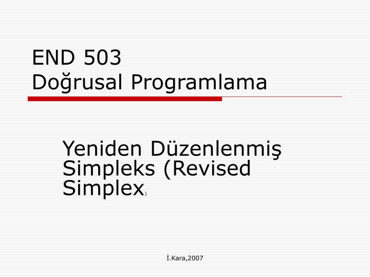 End 503 do rusal programlama