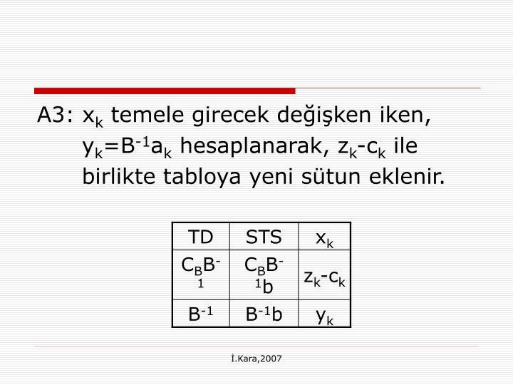 A3: x