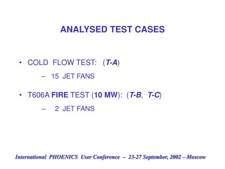 ANALYSED TEST CASES