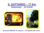 s gottardo 17 km switzerland 24 10 2001