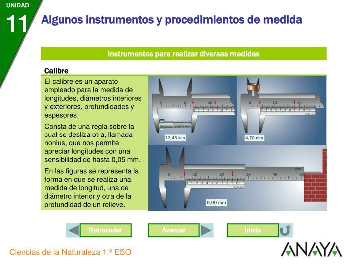 Instrumentos para realizar diversas medidas