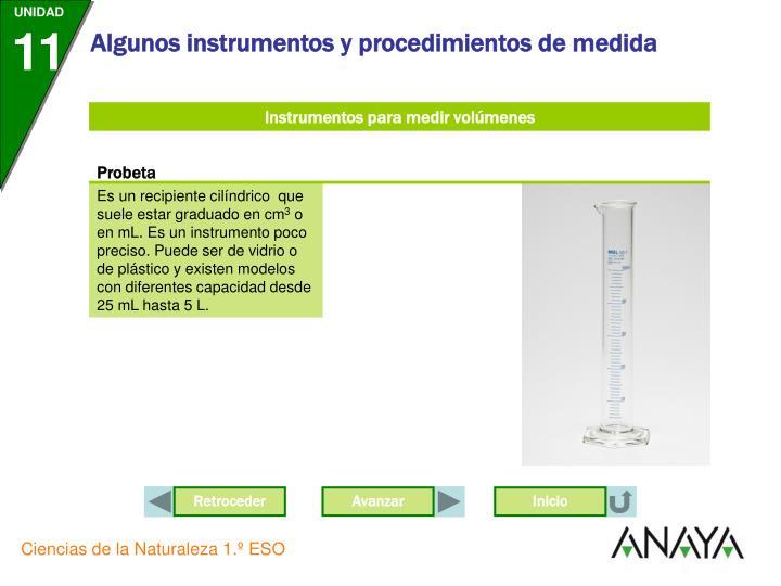 Instrumentos para medir volúmenes
