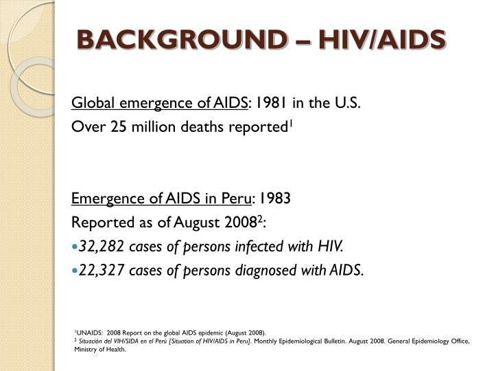 BACKGROUND – HIV/AIDS