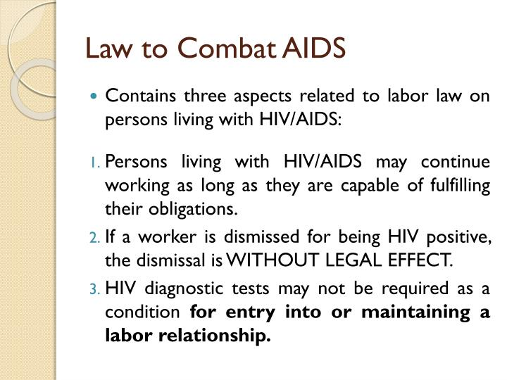 Law to Combat AIDS