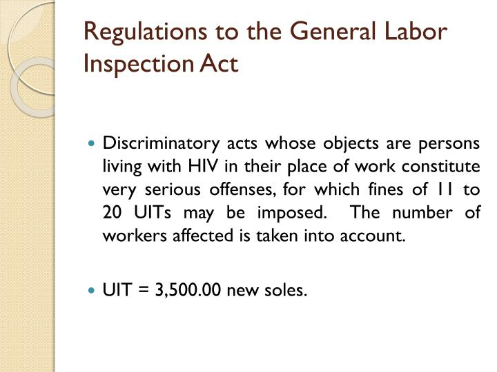 Regulations to the General Labor Inspection Act