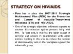 strategy on hiv aids