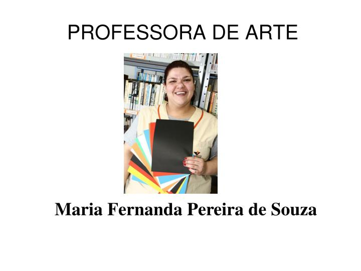 PROFESSORA DE ARTE