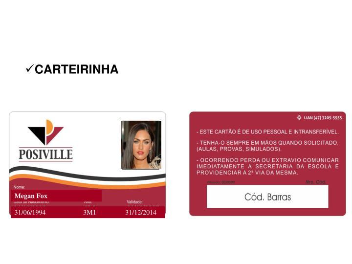 CARTEIRINHA
