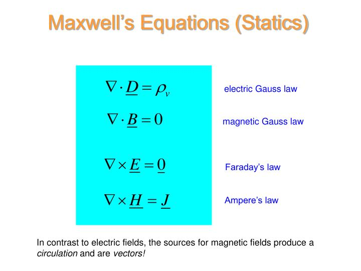 Maxwell's Equations (Statics)