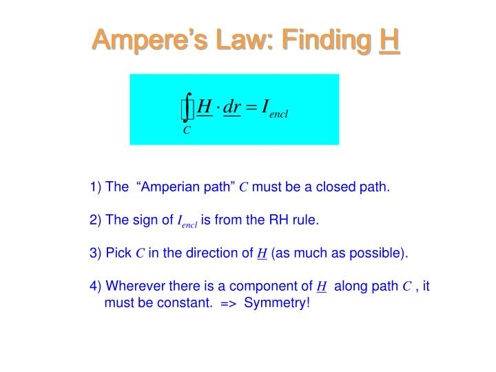 Ampere's Law: Finding