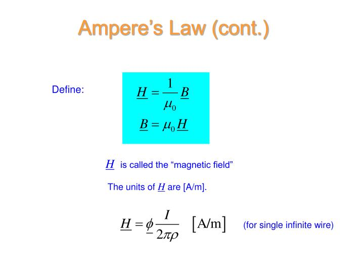 Ampere's Law (cont.)
