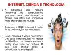 internet ci ncia e tecnologia