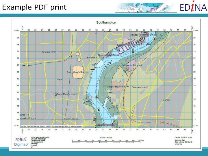 Example PDF print