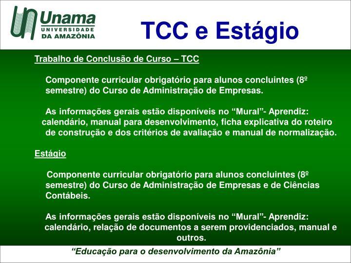 TCC e Estágio
