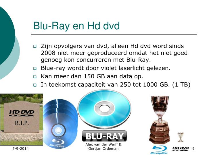 Blu-Ray en Hd dvd