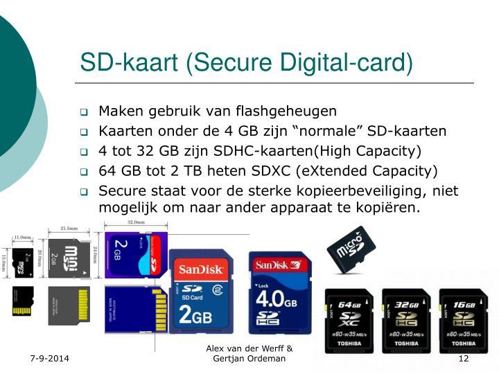 SD-kaart (Secure Digital-card)