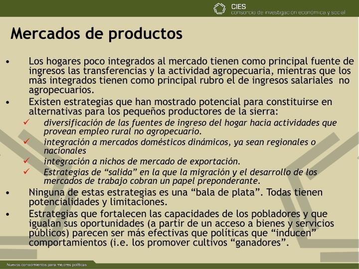 Mercados de productos