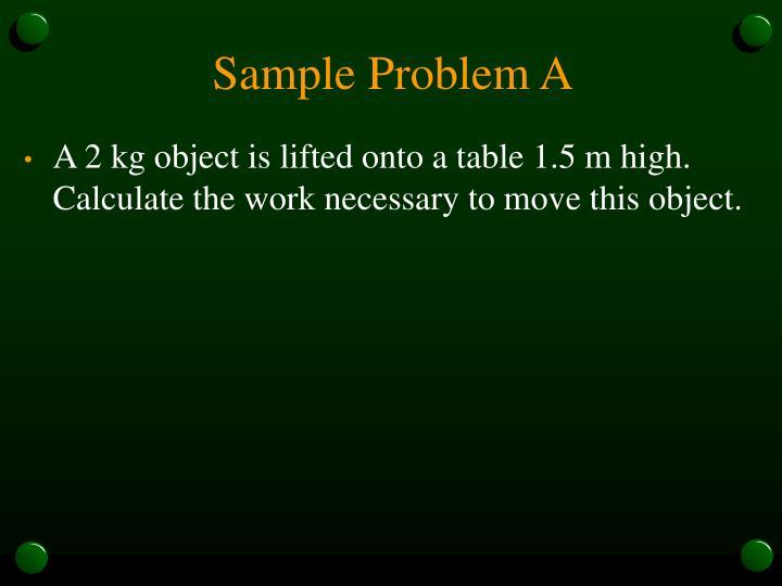 Sample Problem A