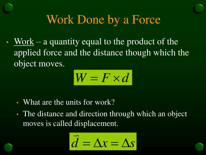 Work Done by a Force