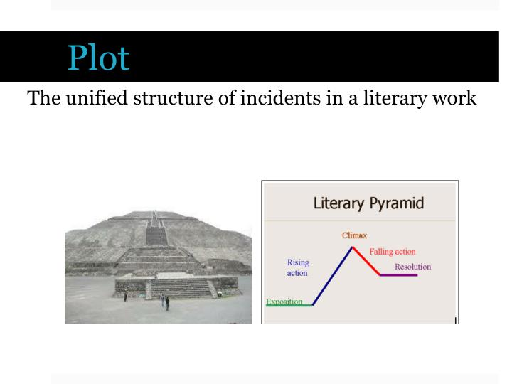 The unified structure of incidents in a literary work