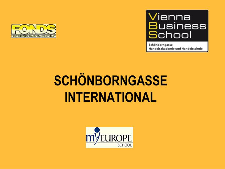 Sch nborngasse international