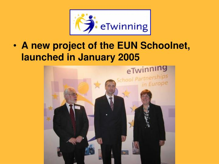 A new project of the EUN Schoolnet, launched in January 2005