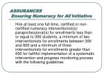 assurances ensuring numeracy for all initiative2